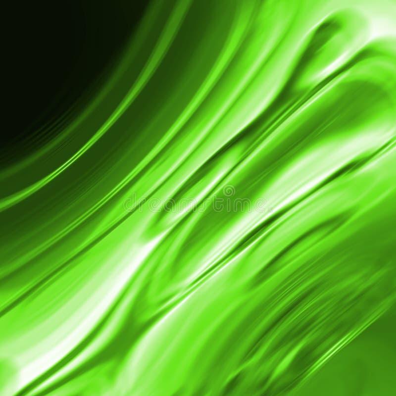 Grüner Wasserfall- oder smaragdeffekt vektor abbildung