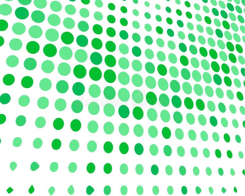 Grüner weißer gelegentlicher Dots Background, kreative Entwurfs-Schablonen stock abbildung