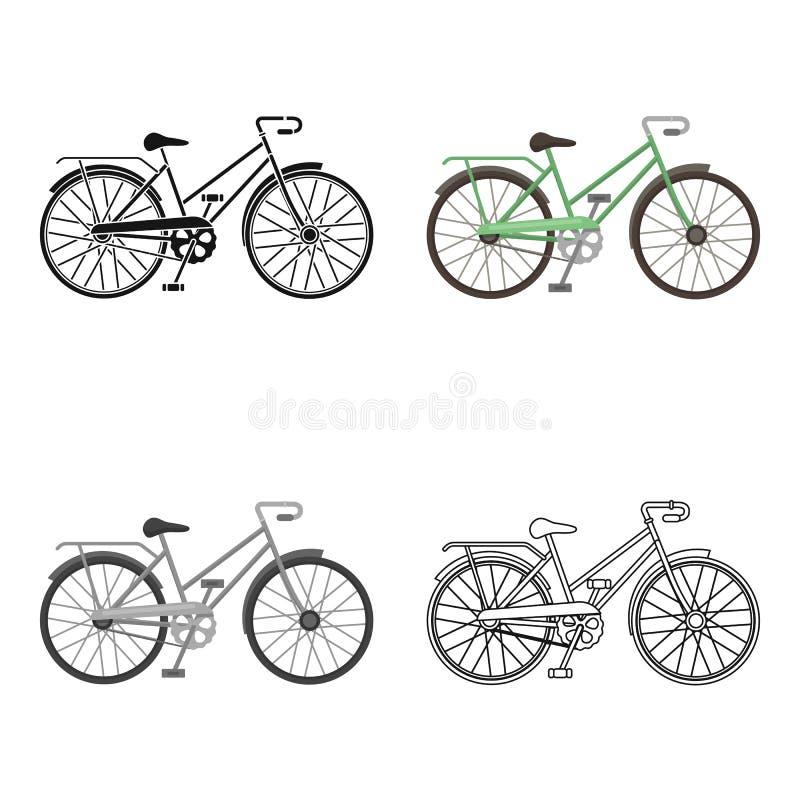 Grüner Weiblicher Fahrradrahmen Mit Einer Sense Einzelne Ikone Des ...