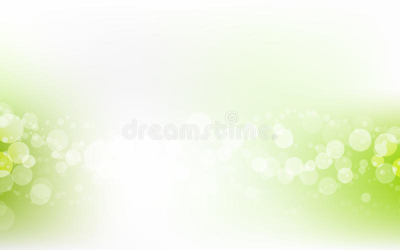 Grüner weicher Pastell-Bokeh Pale White Abstract Background stock abbildung