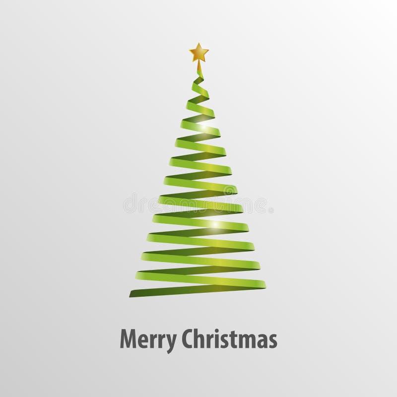 Grüner Weihnachtsbaum-Origami-Vektor lizenzfreie abbildung