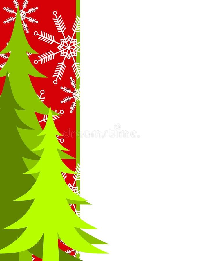 Grüner Weihnachtsbaum-Rand vektor abbildung