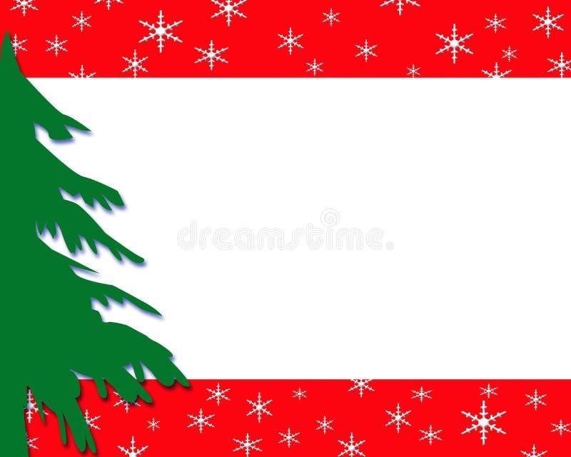 Grüner Weihnachtsbaumrand lizenzfreie abbildung