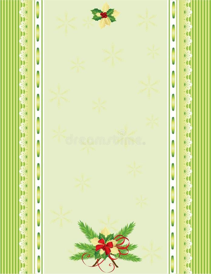 Grüner Weihnachtshintergrund vektor abbildung