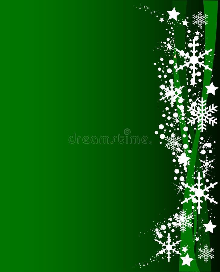 Grüner Weihnachtshintergrund lizenzfreie abbildung