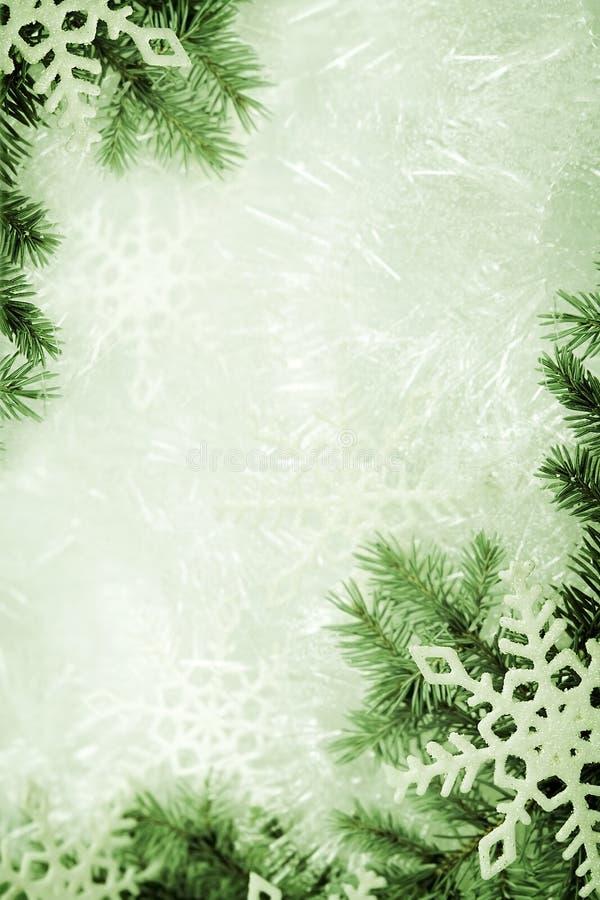 Grüner Weihnachtshintergrund stockfoto