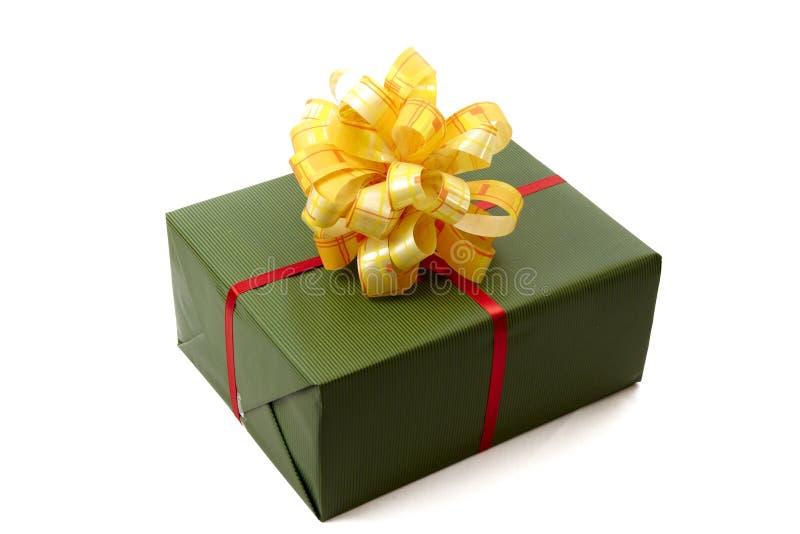 Grüner Weihnachtskasten lizenzfreies stockbild