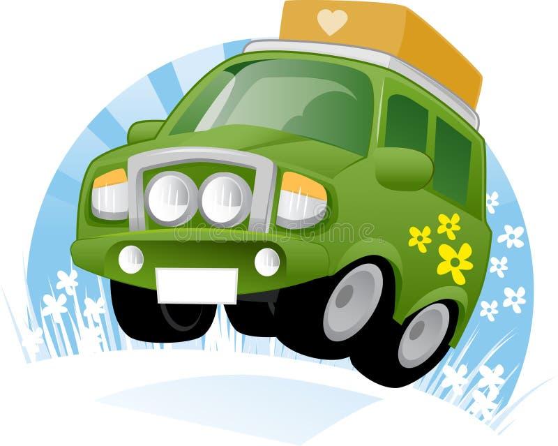 Grünes Ökologie-Auto vektor abbildung