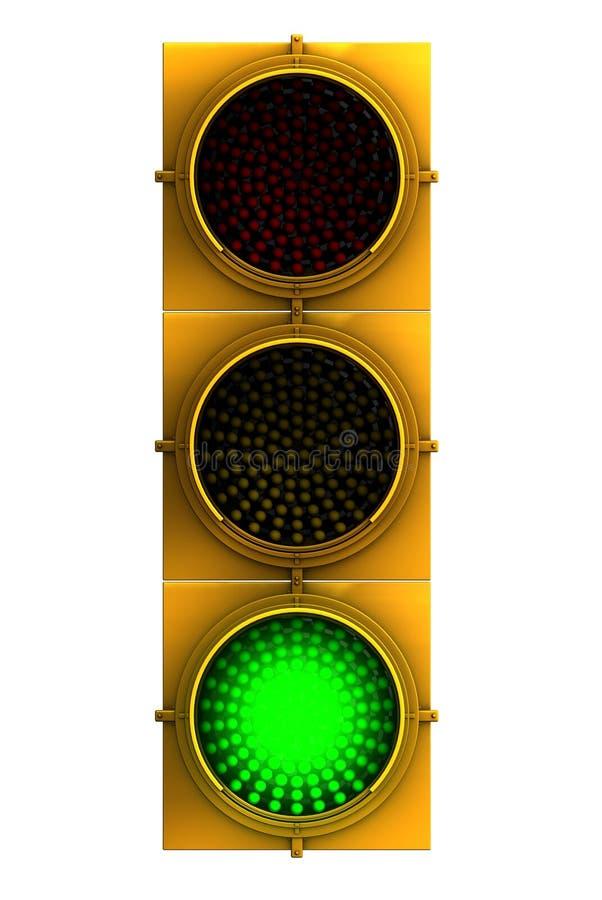 Grünes Ampelgesicht ein lizenzfreie abbildung