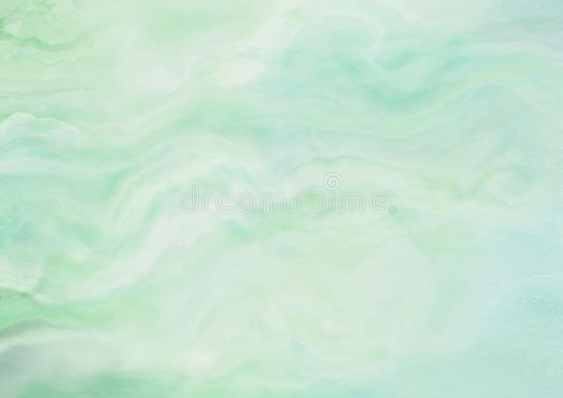 Grünes Aquarell der Steigung malendes strukturiertes Papier-backbround lizenzfreie abbildung