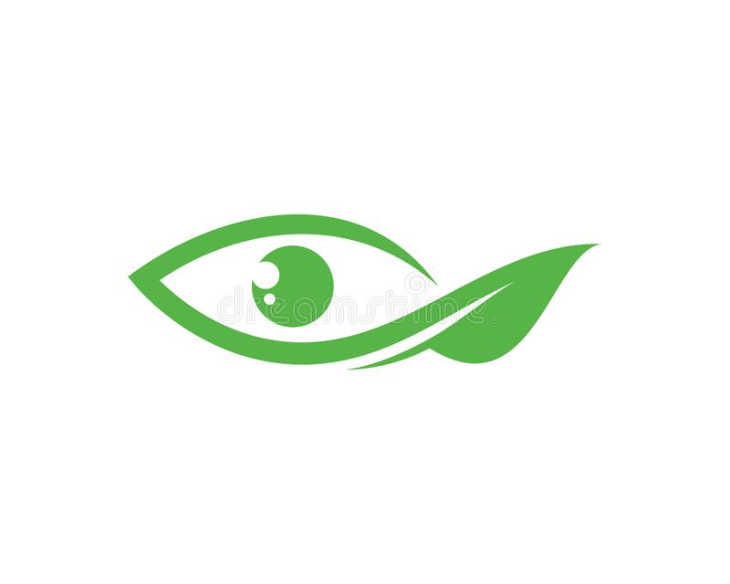 Grünes Auge Logo Template Design Vector, Emblem, Konzept des Entwurfes, kreatives Symbol, Ikone stock abbildung