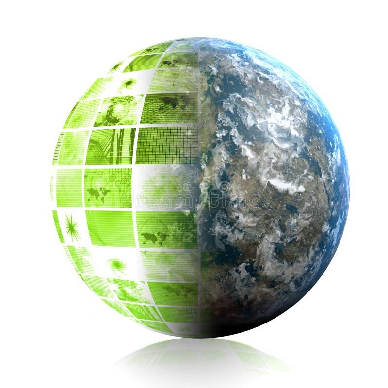Grünes Auslegung-Element lizenzfreie abbildung