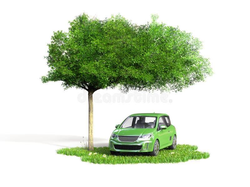 Grünes Autokonzept vektor abbildung