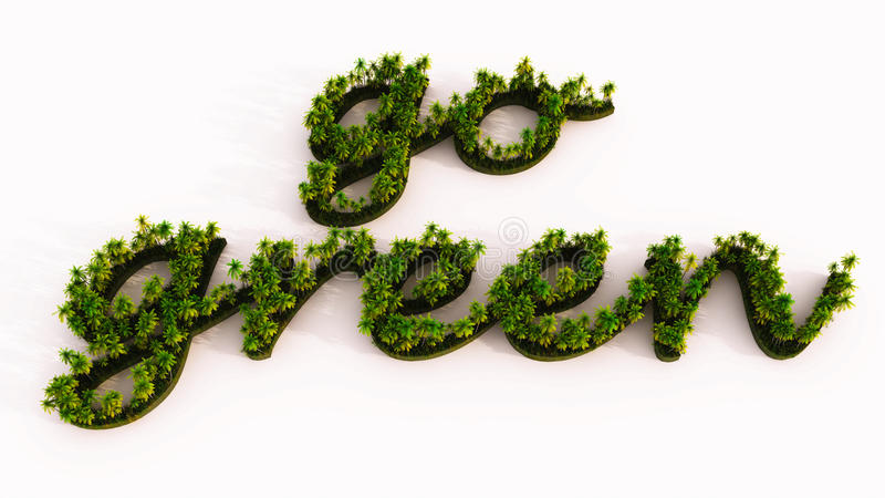 Grünes Bäume eco vektor abbildung