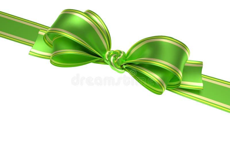Grünes Band und Bogen stock abbildung