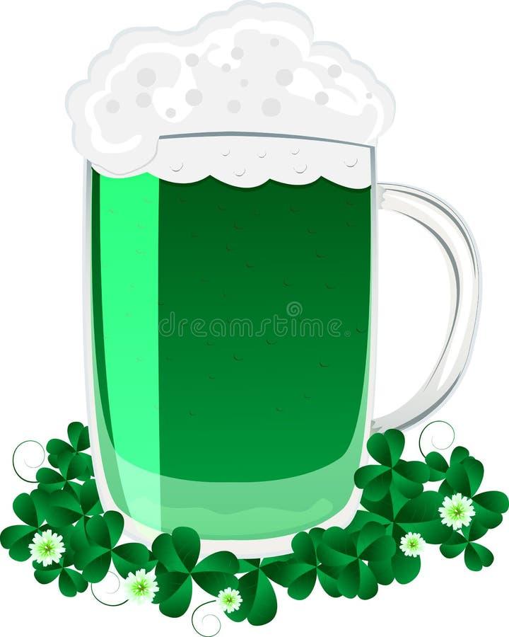 Grünes Bier lizenzfreie abbildung