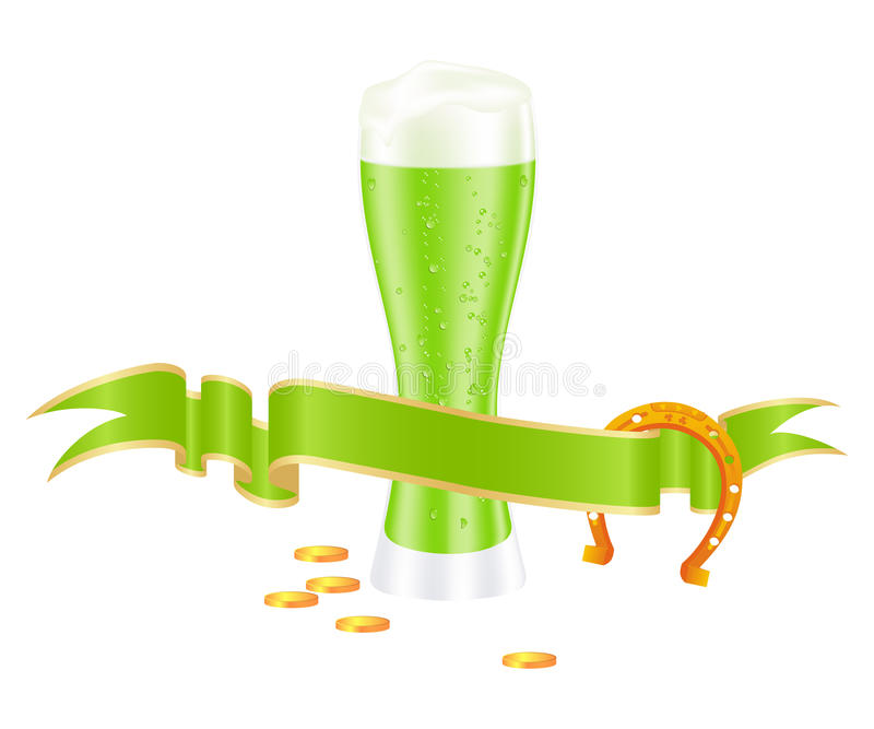 Grünes Bier vektor abbildung
