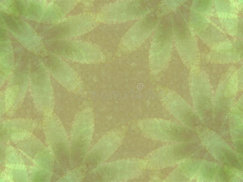 Grünes Blatt-Eindrucks-Muster vektor abbildung