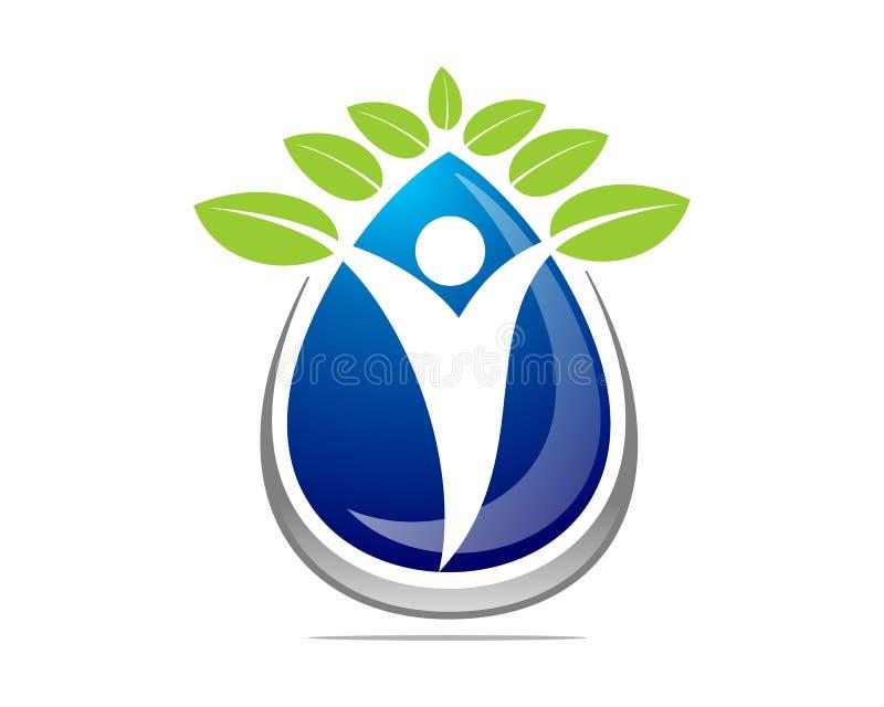 Grünes Blatt und Yoga stockfoto