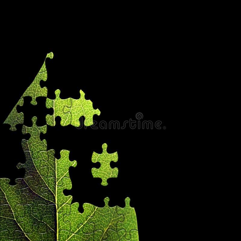 Grünes Blattpuzzlespiel stock abbildung