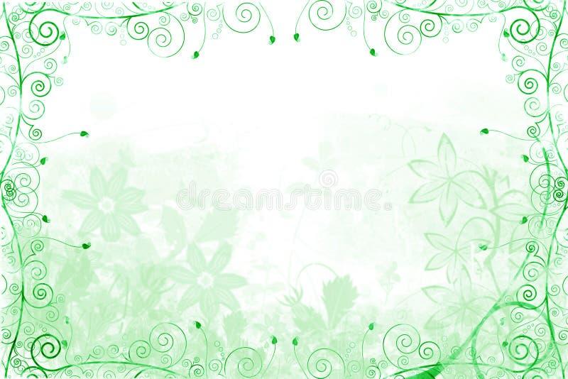 Grünes Blumen- und Rebefeld stock abbildung
