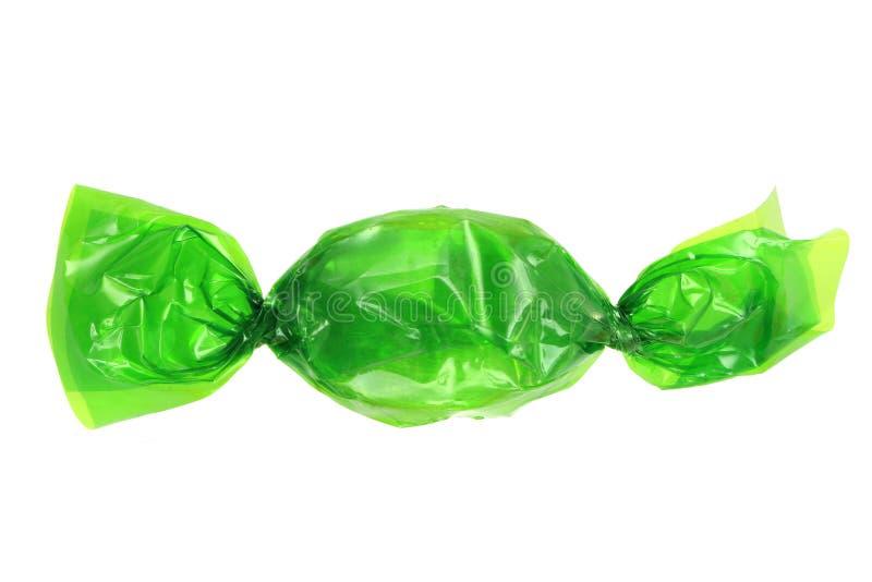 Grünes Bonbon lokalisiert stockfoto