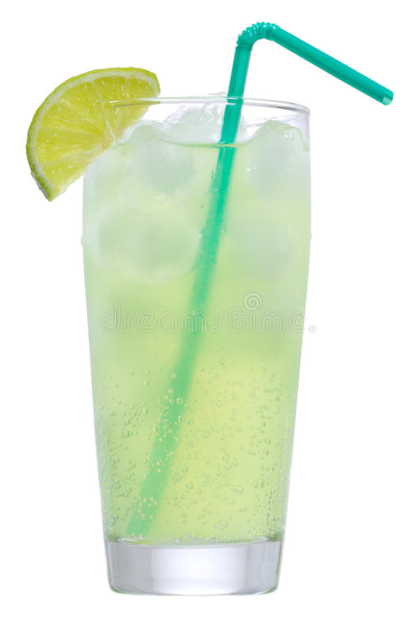 Grünes Cocktail mit Kalk lizenzfreie stockfotografie