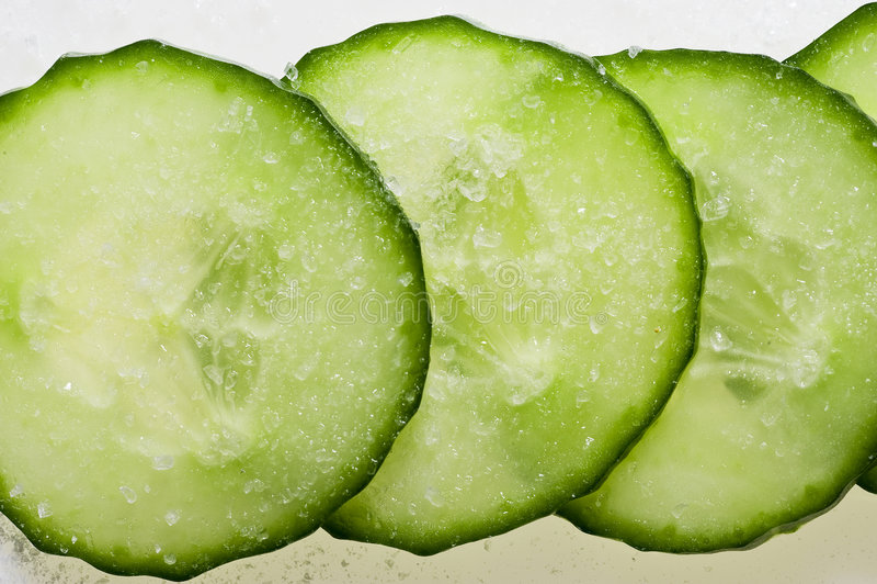 Grünes cucumder lizenzfreies stockbild