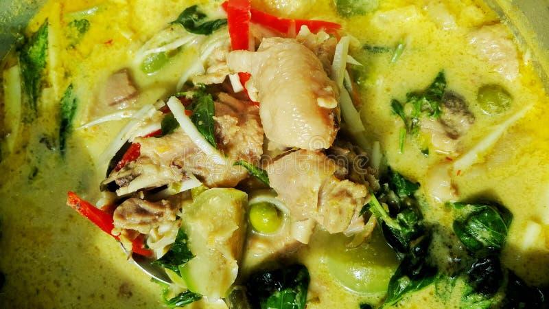 Grünes Curryhuhn lizenzfreie stockfotografie