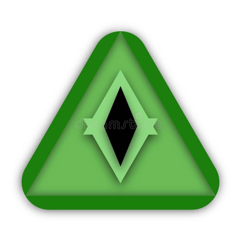 Grünes Dreieck und Auge Logo Concept Design stock abbildung