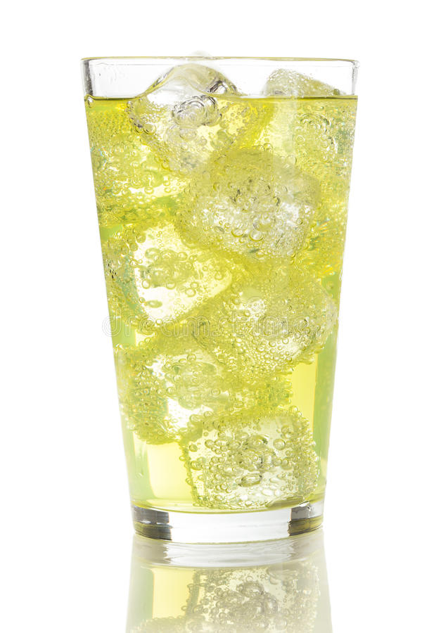 Grünes Energie-Getränk-Soda lizenzfreies stockbild