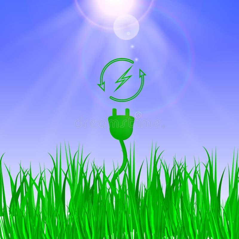 Grünes Energiekonzept stock abbildung