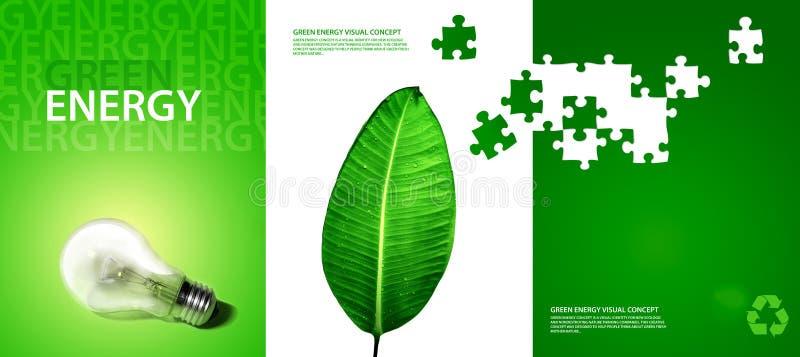 Grünes Energiekonzept vektor abbildung