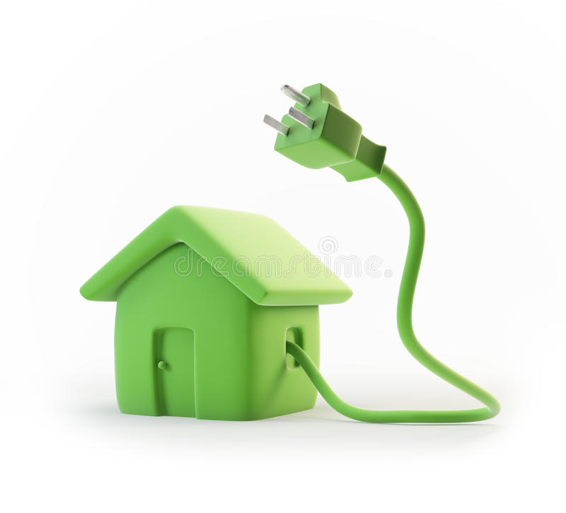 Grünes Energiewohnungskonzept stock abbildung