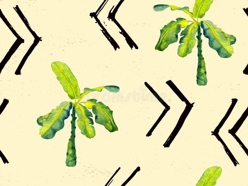 Grünes exotisches Muster lizenzfreie abbildung