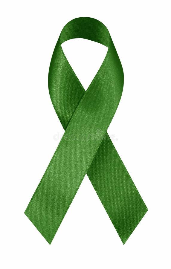 Grünes Farbband lizenzfreie stockfotos
