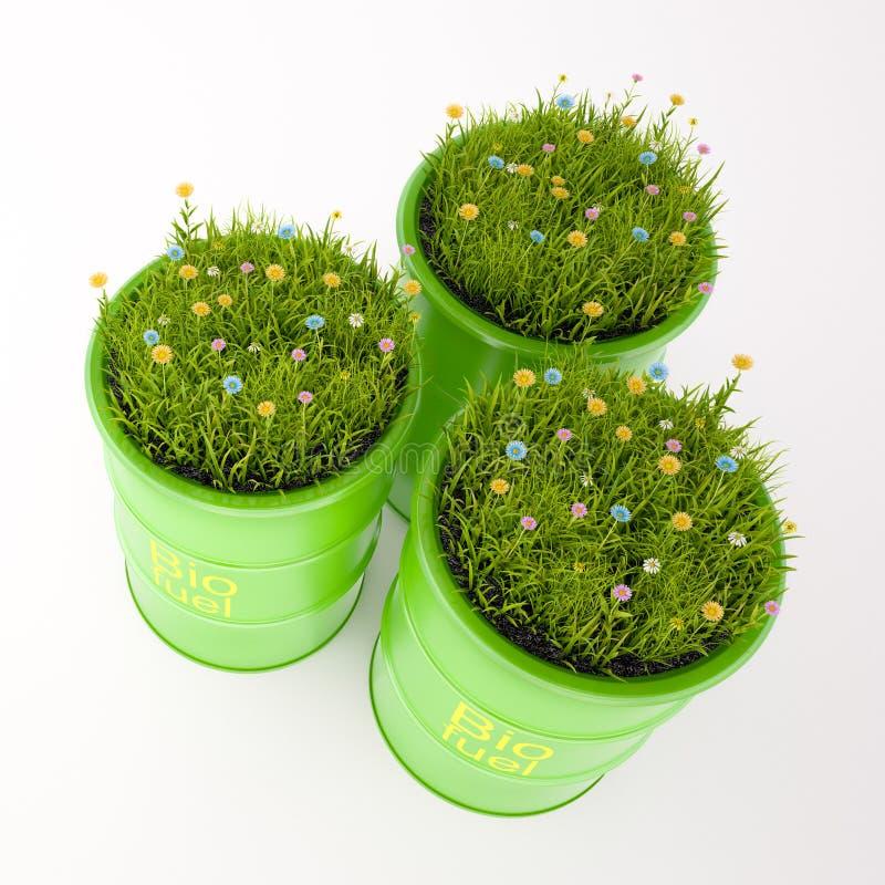 Grünes Fass Biotreibstoff lizenzfreie abbildung