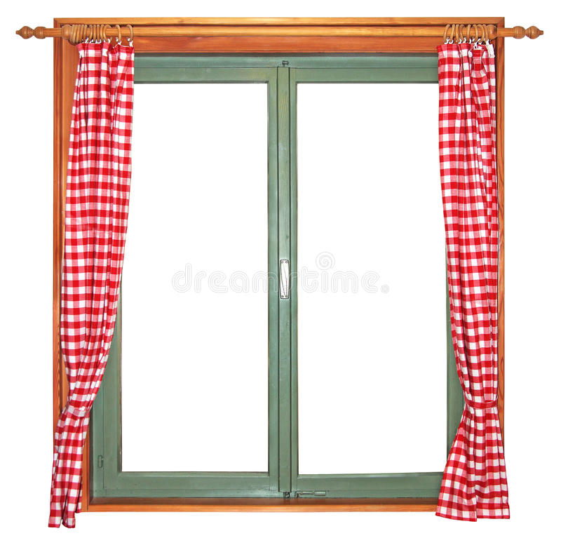 Grünes Fenster lizenzfreies stockfoto