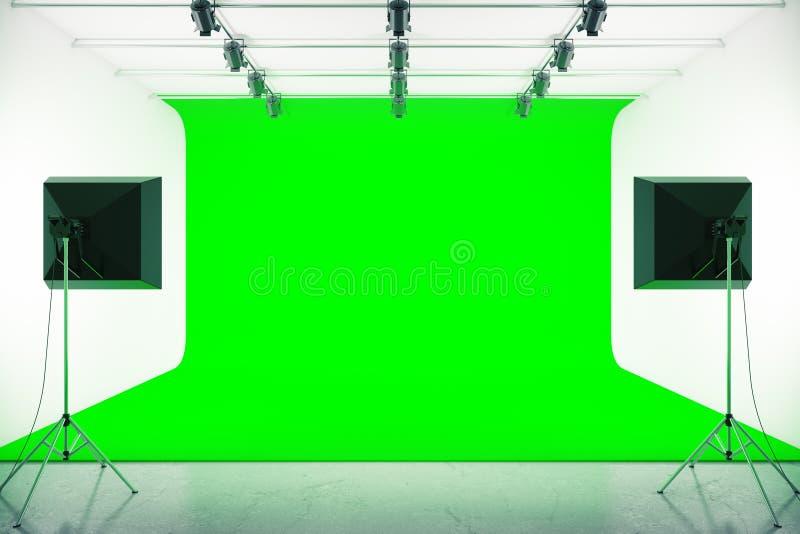 Grünes Fotostudio vektor abbildung