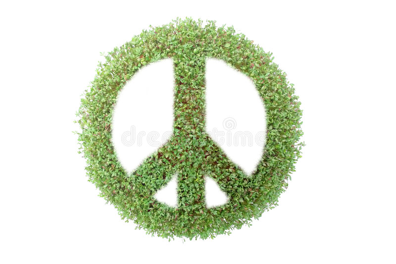 Grünes Friedenssymbol lizenzfreie abbildung