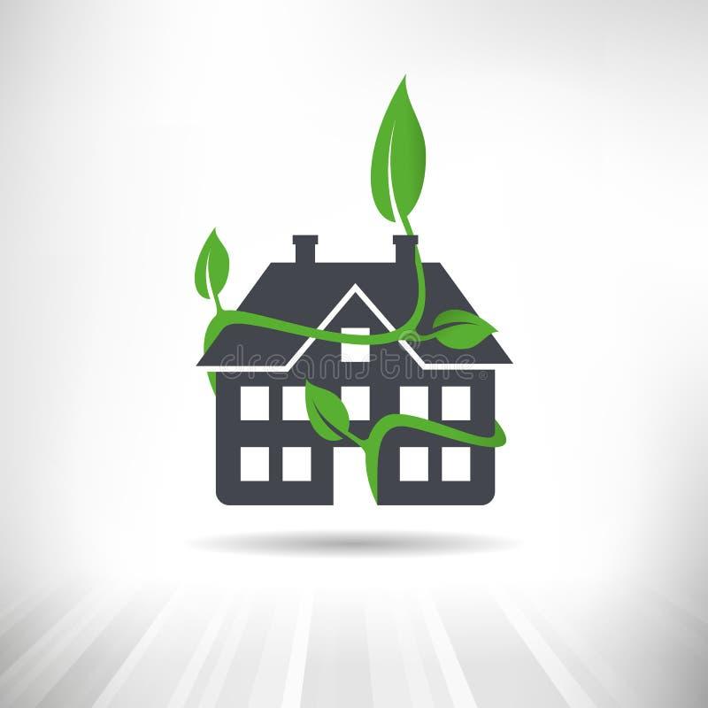 Grünes Gebäudekonzept vektor abbildung