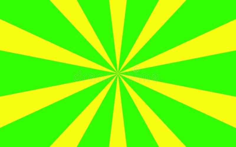 Grünes Gelb strahlt Hintergrund aus lizenzfreies stockfoto