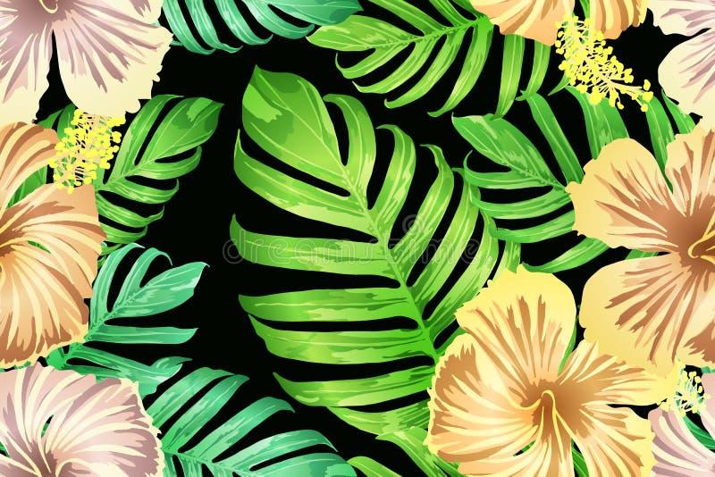 Grünes gelbes exotisches Muster lizenzfreie abbildung