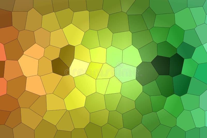 Grünes gelbes und braunes buntes Gras für Hintergrund lizenzfreie abbildung