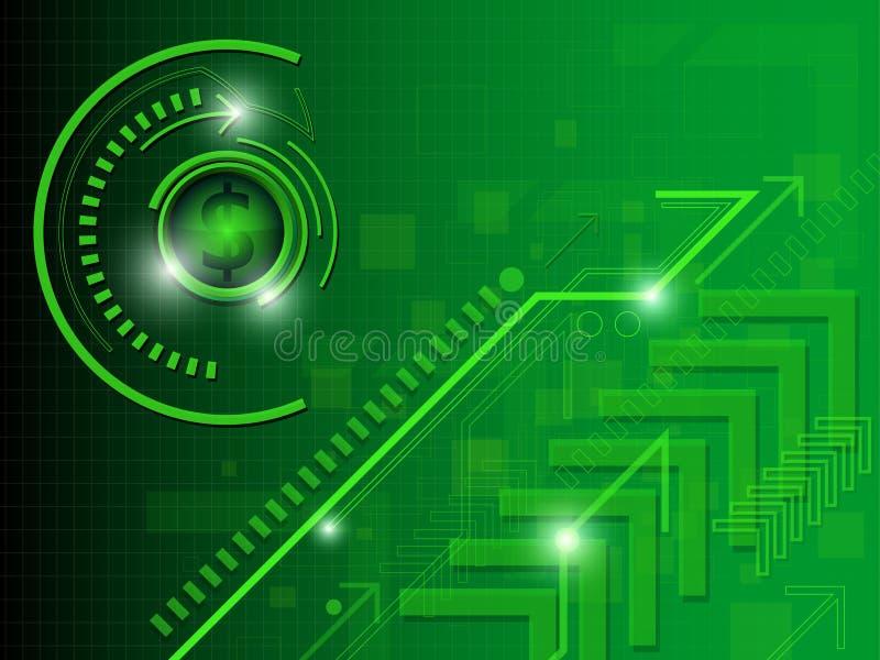 Grünes Geld-Zusammenfassungs-Hintergrund stock abbildung