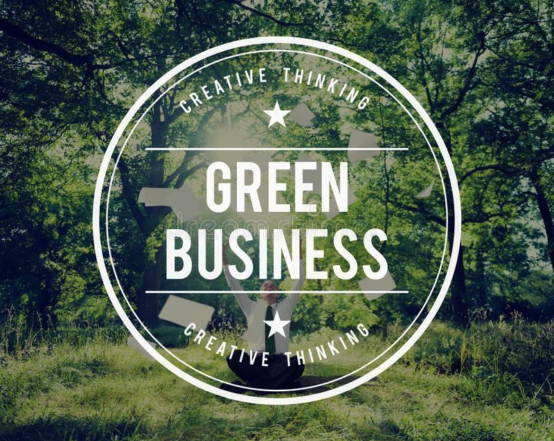 Grünes Geschäfts-Erdökologie-Umwelt-Konzept lizenzfreie stockfotografie