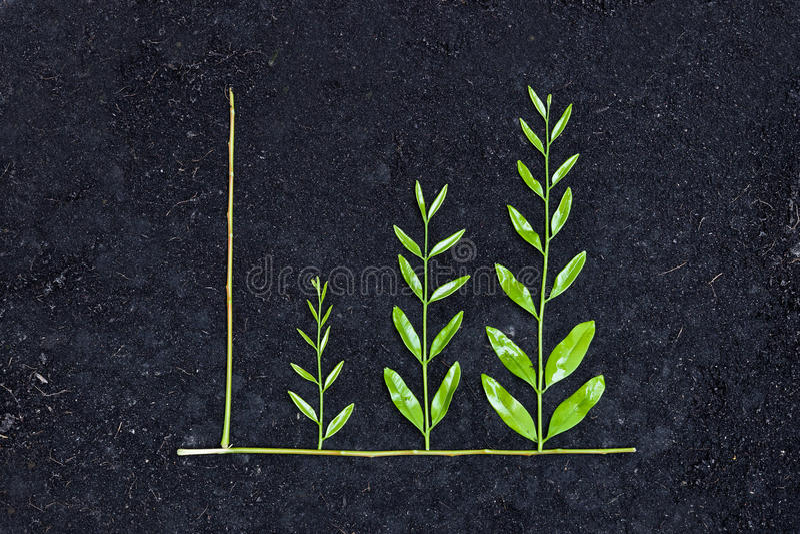 Grünes Geschäftsdiagramm stockfoto