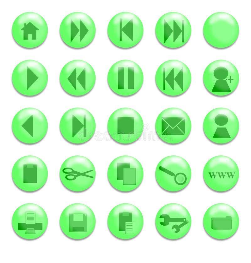 Grünes Glas-Tasten Lizenzfreies Stockbild