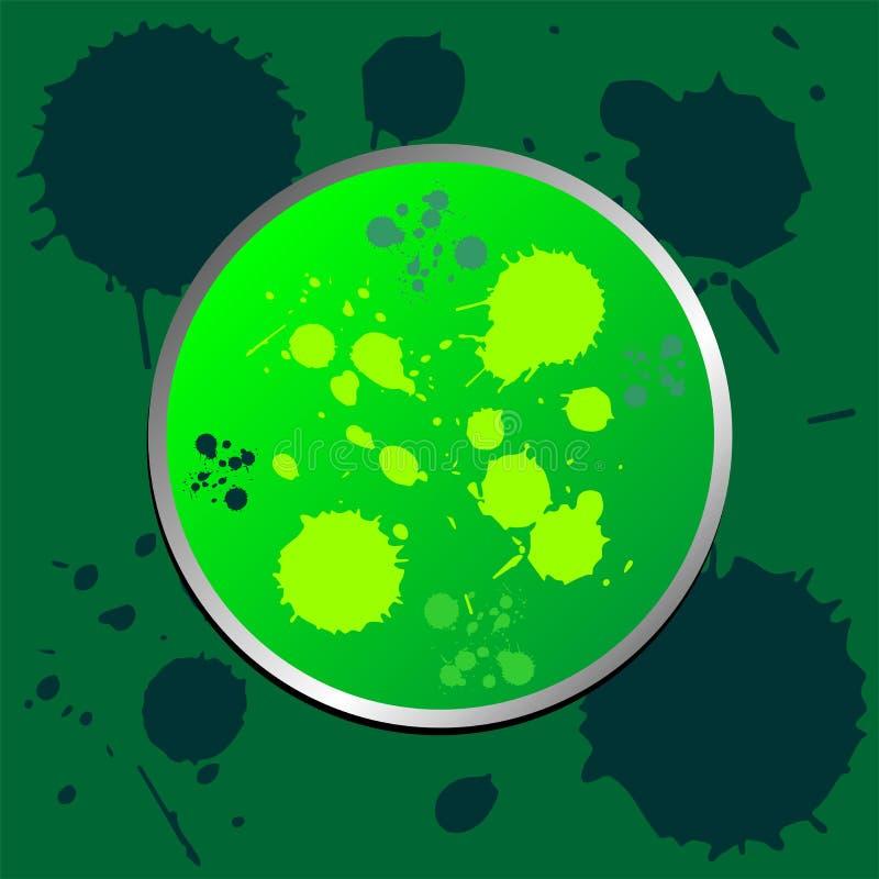 Grünes grunge fördernder Aufkleber stock abbildung