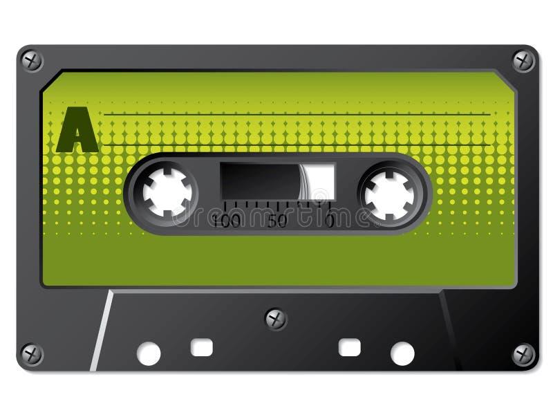 Grünes Halbtonbild beschriftet Kassette vektor abbildung